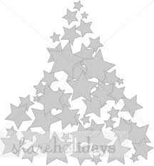 star outline christmas tree clipart