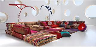 roche et bobois canapé canapé modulable contemporain en tissu 7 places et plus mah