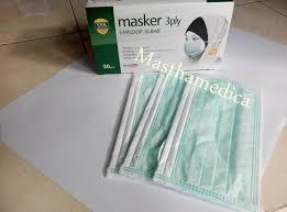 Masker Hijau 1 Box jual masker debu masker jilbab kerudung masker karet earloop