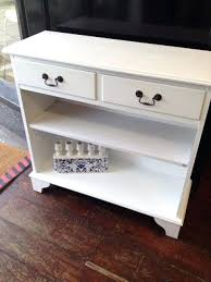 shabby chic white console table uk painted drawer small hall