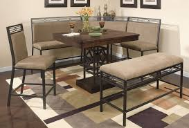 breakfast nook table set nelson corner breakfast nook set with