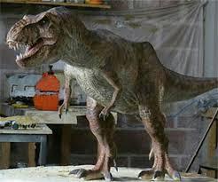 metal t rex sculpture