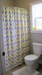 incredible yellow gray geometric pattern design polyester shower