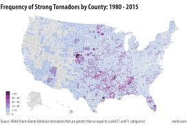 Joplin Mo Map The U S Counties Where Natural Disaster Is Most Likely To Strike