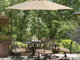 Patio Furniture Dining Sets With Umbrella - round table 6 set cushion replacement cast aluminium patio outdoor