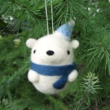 Polar Bear Christmas Tree Decorations best needle felted christmas decorations products on wanelo