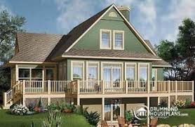 Hillside Cabin Plans Sloping And Hillside Designs From Drummondhouseplans Com