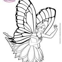 barbie mariposa coloring pages 20 mattel dolls printables