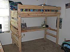 Free Loft Bed Plans For College by How To Build A Lofted College Bed Dorm Room Dorm And Lofts