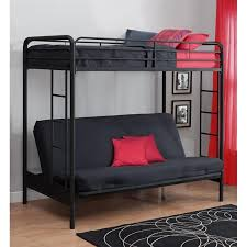 Twin Over Convertible Futon Sofa Bunk Bed In Black - Futon couch bunk bed