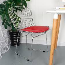 chaise rembourr e design moderne loft métal bertoia fil chaise moderne classique fil