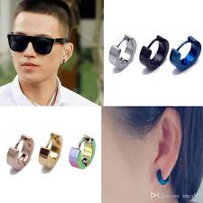 boy earrings wholesale 2016 brand new colorful titanium steel earrings mens