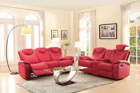 Red Sofa Furniture Homelegance Talbot Reclining Sofa Set Red Bonded Leather 8524rd