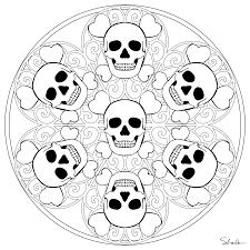 halloween mandala coloring page for kids crafts and worksheets