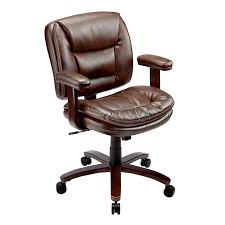 Desk Chair Office Depot Realspace Elmhart Low Back Bonded Leather Task Chair