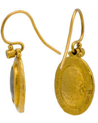 champagne silhouette gurhan silhouette earrings in 24k yellow gold with champagne