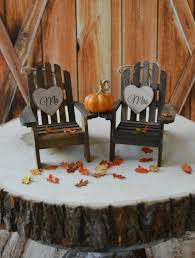 chair cake topper fall wedding cake