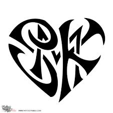 tribal letter k tattoo designs danielhuscroft com
