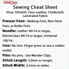 Upholstery Stitch Types How To Sew Vinyl Faux Leather And Oilcloth Sewing Parts Online