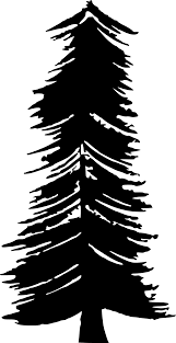clipart transparent background christmas tree b u0026w silhouette