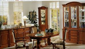 decorating ideas formal dining room dark brown varnish long wooden