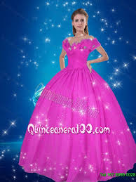cinderella quinceanera dresses the shoulder hot pink cinderella quinceanera dresses