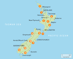 zealand on map map of zealand zealand regions guides guides