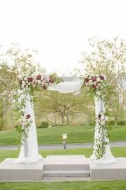 wedding arch las vegas draping on arch at rock country club in las vegas nv white