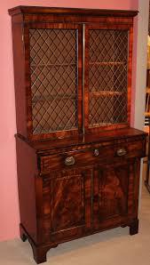 Antique Oak Secretary Desk With Hutch by English Regency Mahogany U0026 Ebony Secretary Desk U0026 Bookcase From
