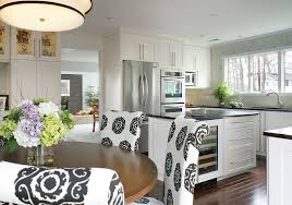 glamorous 15 inch wine cooler in kitchen transitional with bar