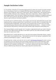 invitation letter for us visa sample for a visa invitation letter