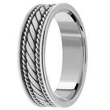 braided wedding band handmade braided wedding band ring for men women platinum