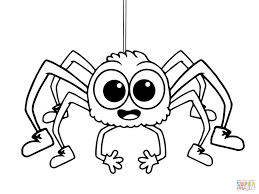 free printable spider coloring pages for kids in spider coloring
