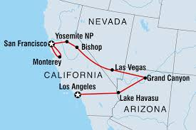 Lake Havasu Map Western Usa Family Holiday With Teenagers United States Tours