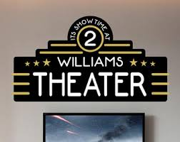 home theater decor etsy