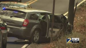 car chase ends with crash pedestrian injured police say wsb tv