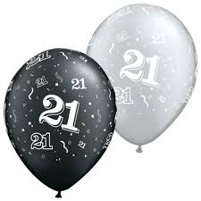 silver balloons black and silver 21st balloons 21st birthday balloons 25pcs
