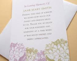 bereavement thank you cards condolence thank you etsy