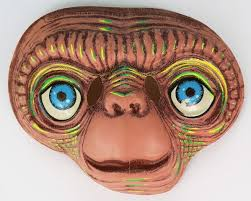 vintage e t extra terrestrial halloween mask universal studios et