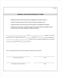 vacation request form sample leave request form 10 free