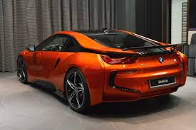 Bmw I8 Modified - bmw i8 in lava orange and tuned by ac schnitzer