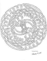 printable celtic coloring pages second hand drawn celtic knot by