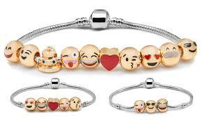 78 on emoji charm bracelet groupon goods