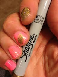 how to do feather nail art with a metallic sharpie chic nail styles