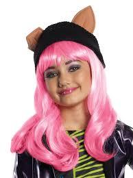 Monster Costumes Halloween Monster Howleen Wolf Child Pink Girls Wig Fancy Dress