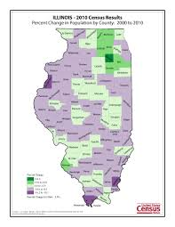 Illinois Map With Counties by Census 2010 Data Census 2010