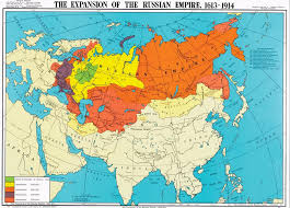 russia map before partition territorial expansion of the russian empire 1613 1914 mapy