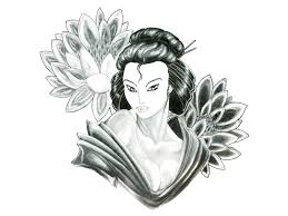 Fleur De Lotus Tattoo by Flowers And Geisha Tattoo Design Photos Pictures And Sketches