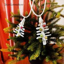 buy pendant christmas toy white christmas tree on livemaster