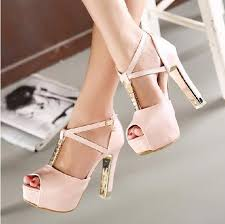 wedding shoes chunky heel korean fashion cross chunky heel rhinestone wedding